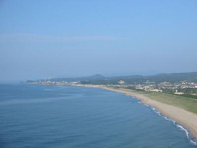 波子町大崎鼻から見た石見瀉と浅利富士