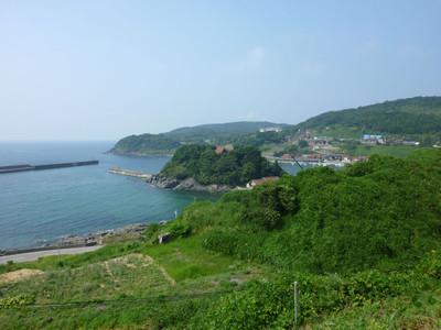 益田市鎌手の亀島