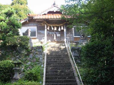 島根県益田市の佐毘賣山神社・拝殿