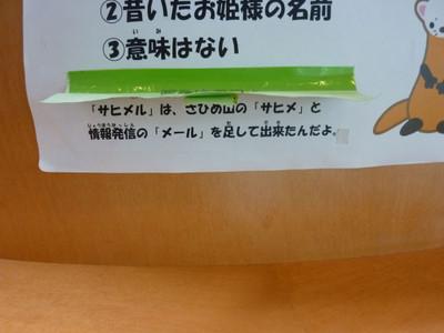 クイズの答え:サヒメ山のサヒメ