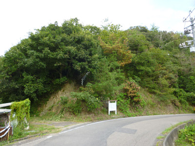 額田部そでめ屋敷跡の記念碑付近