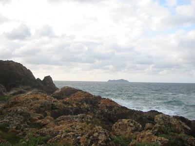 唐音海岸から見た高島