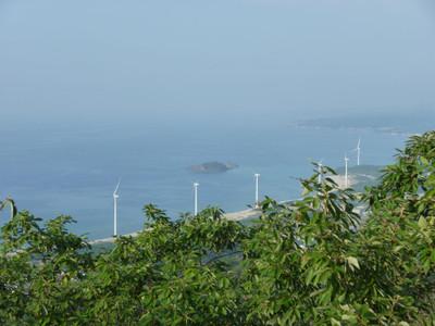 浅利富士山頂から見た大島