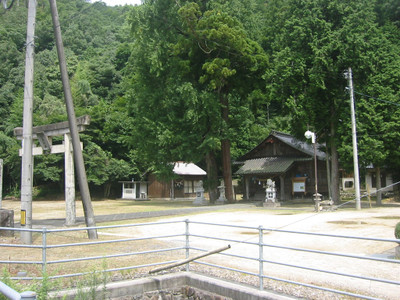 鹿足郡吉賀町七日市の奇鹿神社