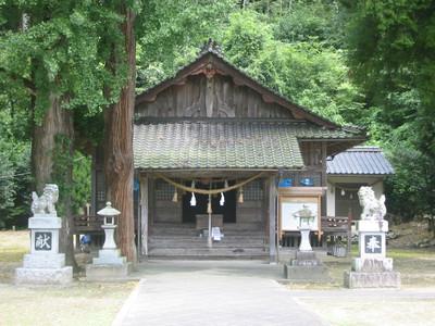 七日市の奇鹿神社・拝殿
