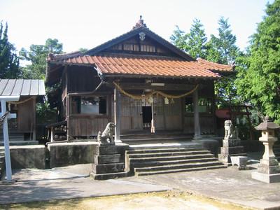 松原町の厳島神社・拝殿