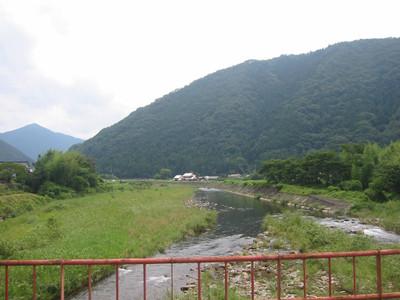 抜月橋から見た高津川