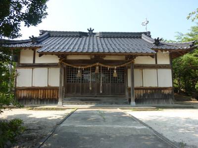 江津市後地町の厳島神社・拝殿