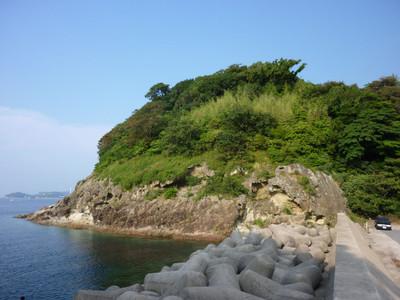 浜田商港近くの大島