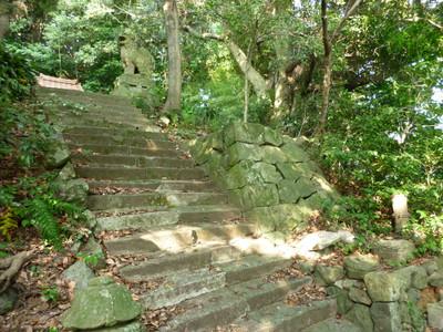 大島の天満宮・階段