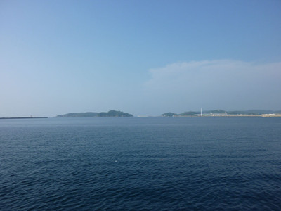 防波堤と矢箆島、馬島、瀬戸ヶ島とマリン大橋