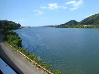 JR三江線車内から見た江川
