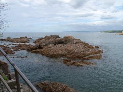 戸田小浜・衣比須神社から見た日本海