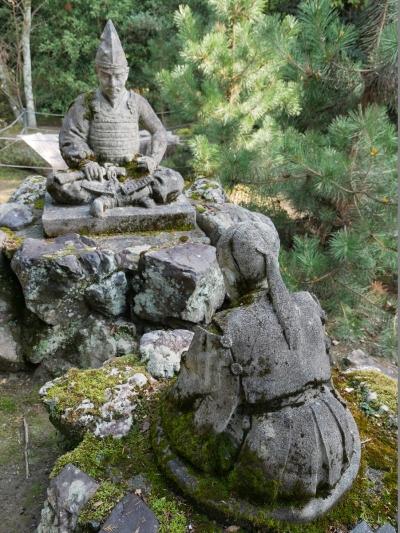 馬見岡綿向神社・桜井宿での別れ像