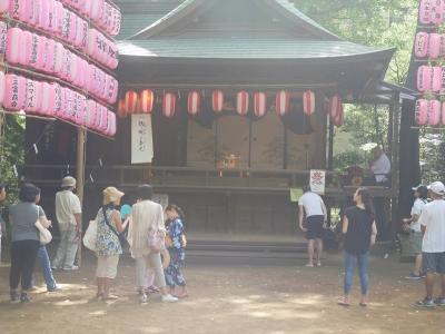 千束八幡神社・奉納神楽・当日の観客