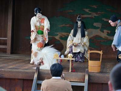 梅鉢会・因幡白兎・蒲の穂を身につけて傷を癒す