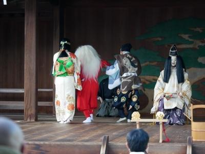 梅鉢会・因幡白兎・白兎、もどきとおかめに連れられて一旦退場する