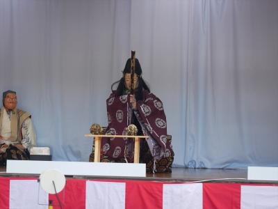 加藤社中・神剣幽助・三條宗近、稲荷明神に祈誓する